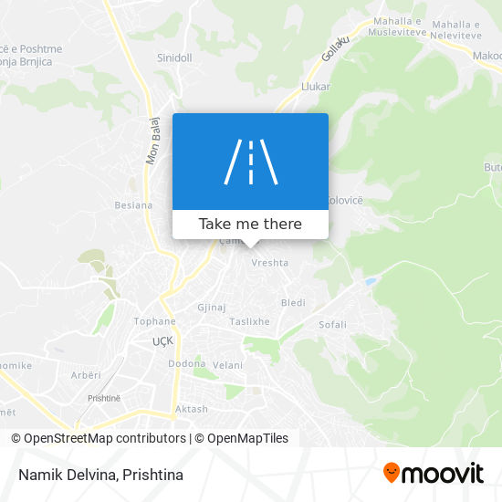 Namik Delvina map
