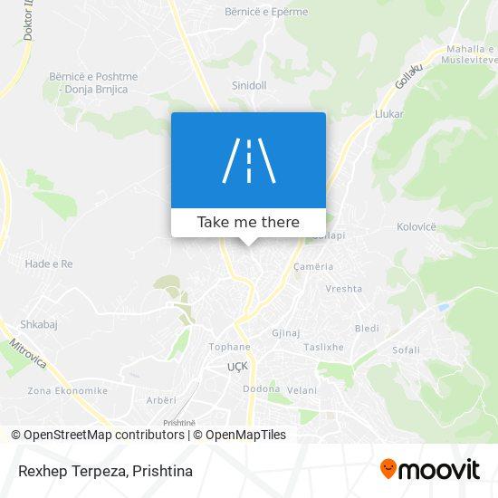 Rexhep Terpeza map