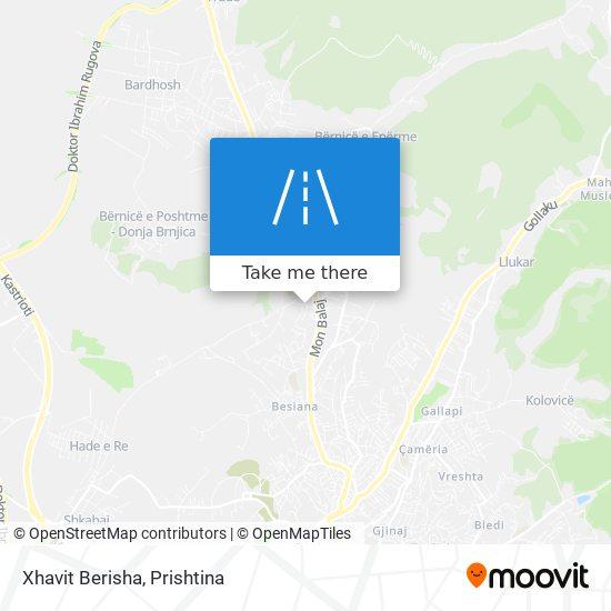 Xhavit Berisha map