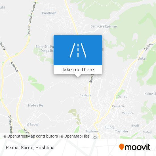 Rexhai Surroi map