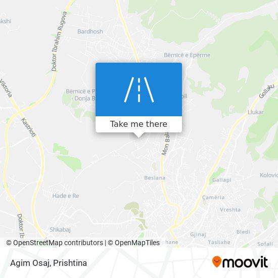 Agim Osaj map