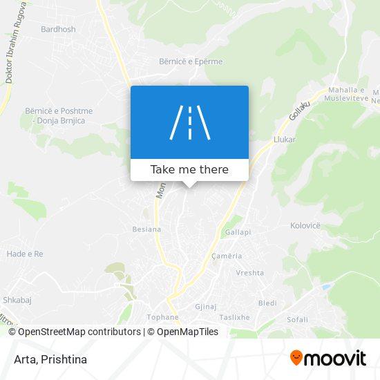 Arta map