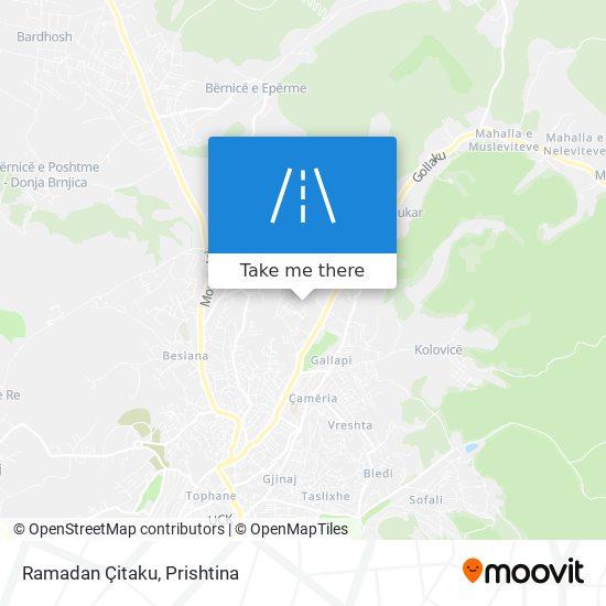 Ramadan Çitaku map