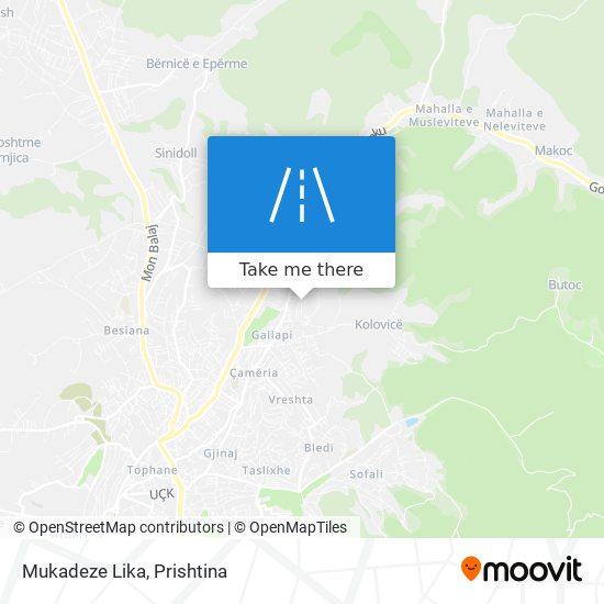 Mukadeze Lika map