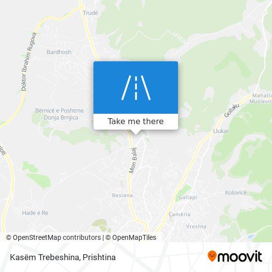 Kasëm Trebeshina map