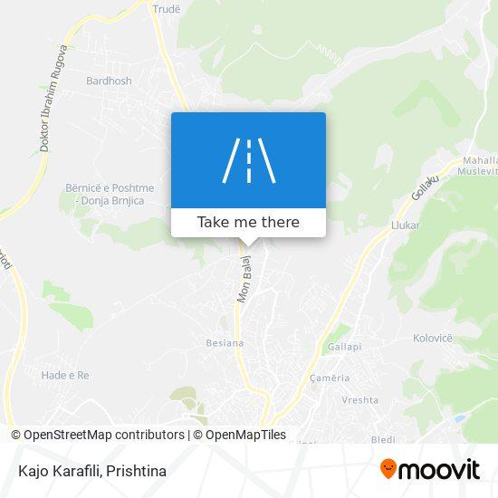 Kajo Karafili map