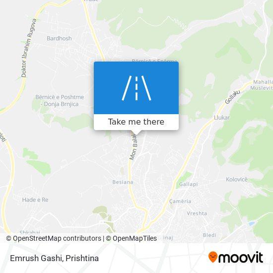 Emrush Gashi map