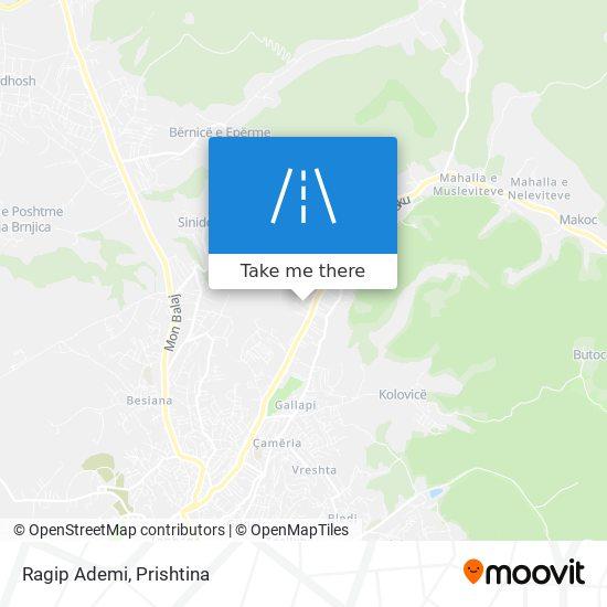 Ragip Ademi map