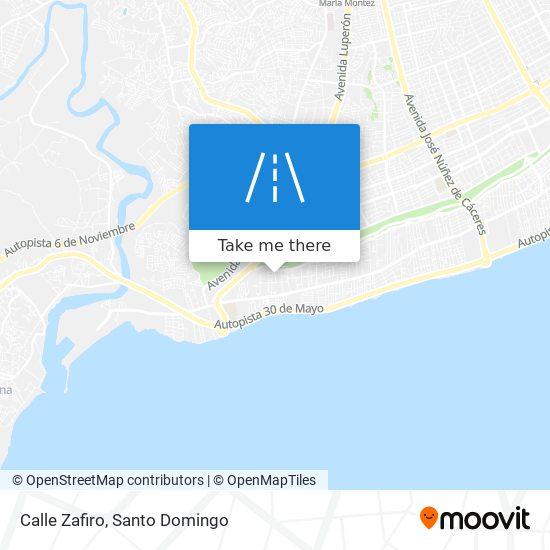 Calle Zafiro map
