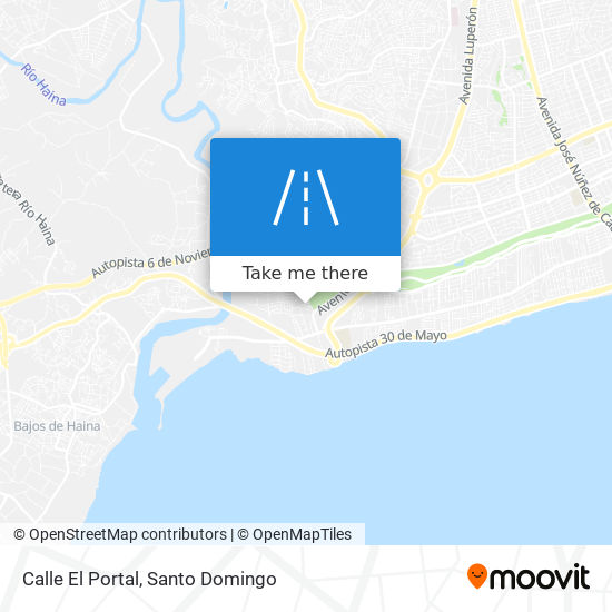Calle El Portal map