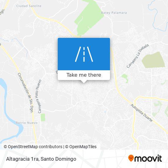 Altagracia 1ra map