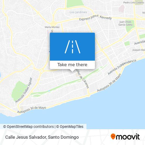 Calle Jesus Salvador map