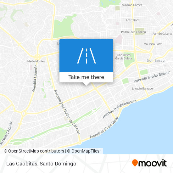 Las Caobitas map
