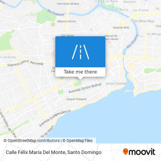 Calle Félix María Del Monte map