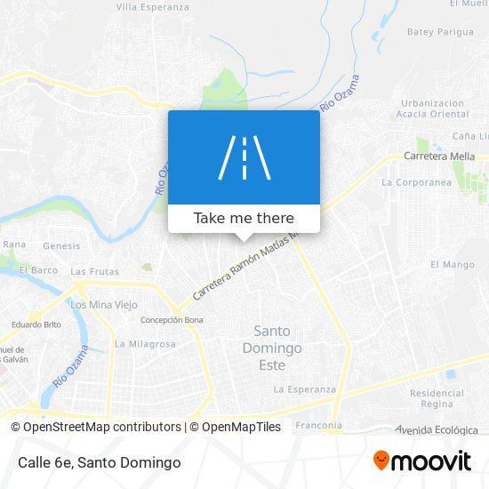 Calle 6e map