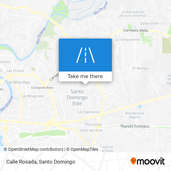 Calle Rosada map