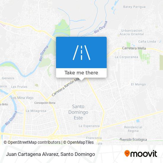 Juan Cartagena Alvarez map