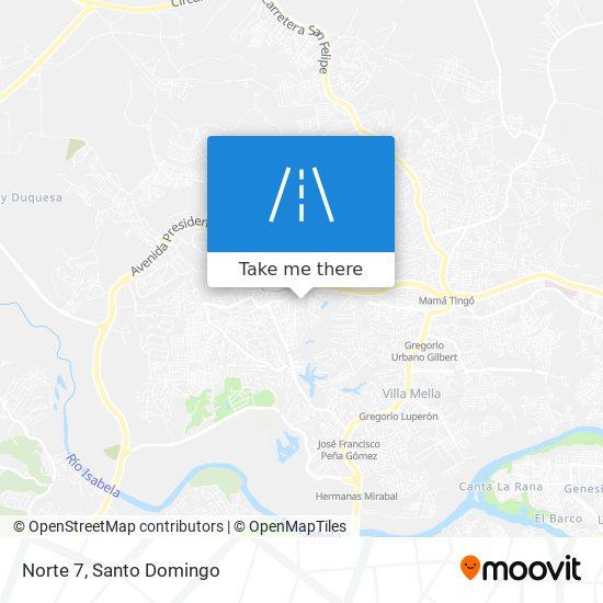 Norte 7 map