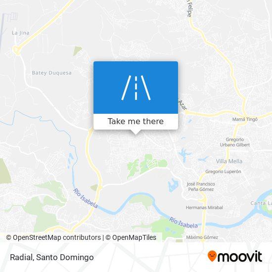 Radial map