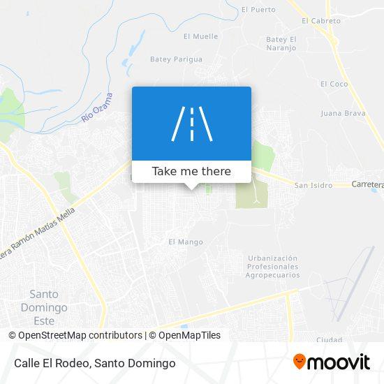 Calle El Rodeo map
