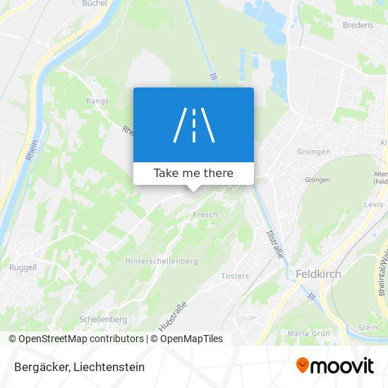 Bergäcker map
