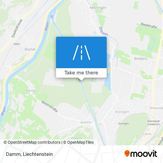 Damm map