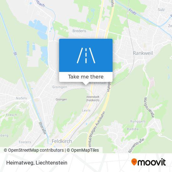 Heimatweg map