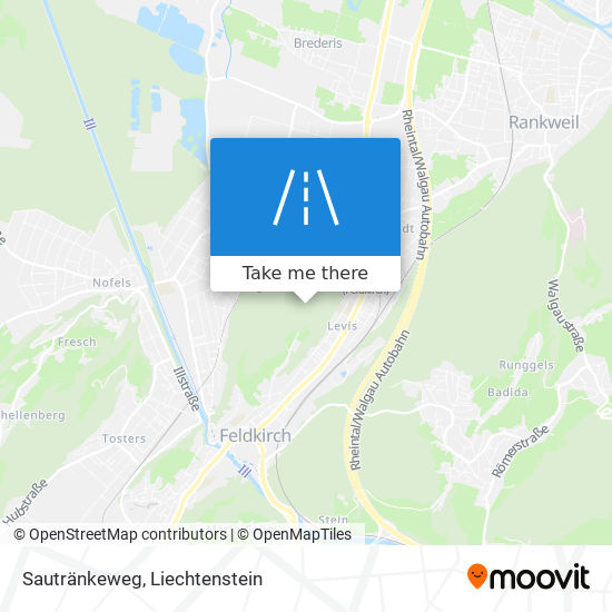 Sautränkeweg map