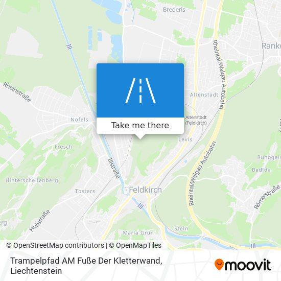 Trampelpfad AM Fuße Der Kletterwand map