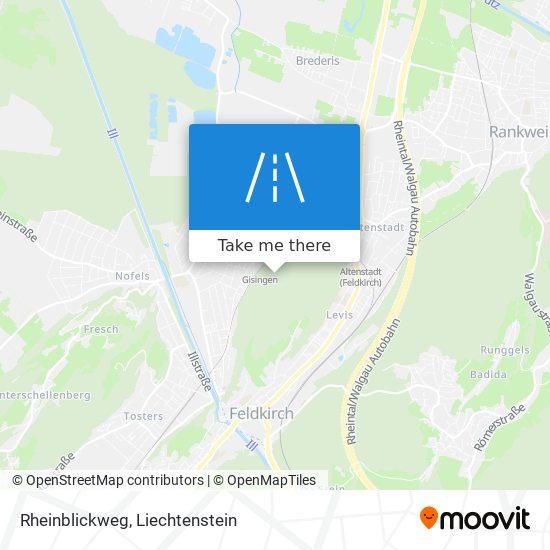 Rheinblickweg map