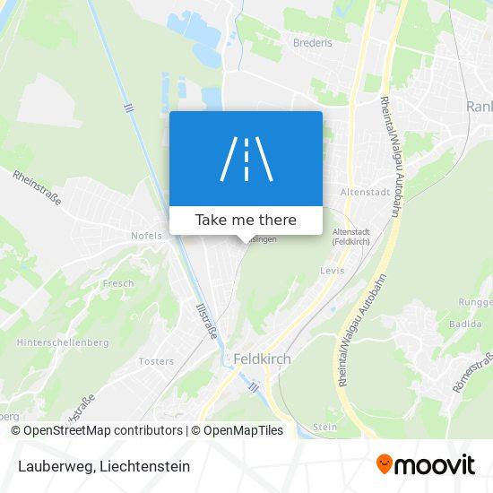 Lauberweg map