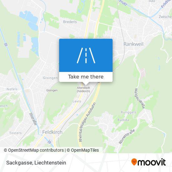 Sackgasse map