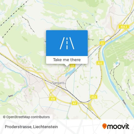 Proderstrasse map
