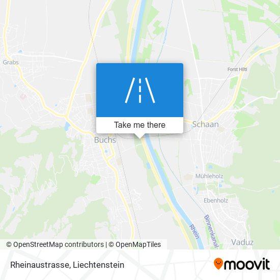 Rheinaustrasse map
