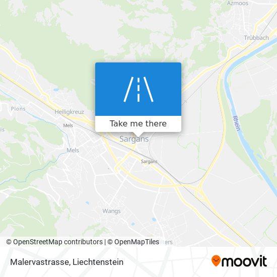 Malervastrasse map