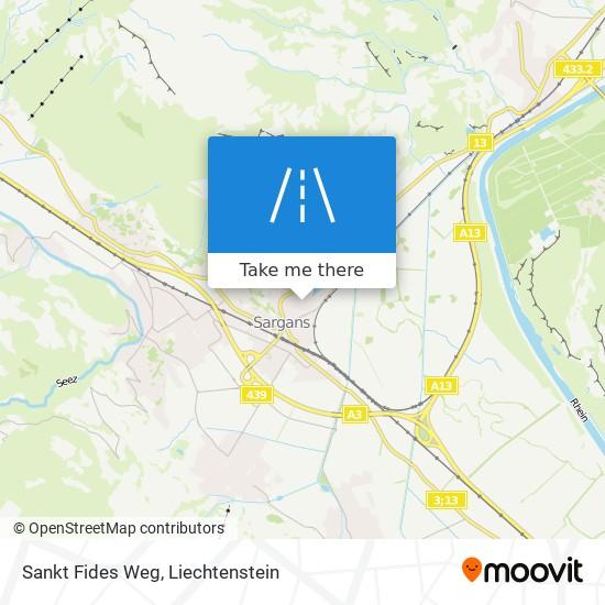 Sankt Fides Weg map