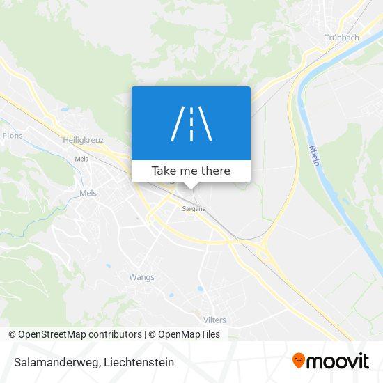 Salamanderweg map
