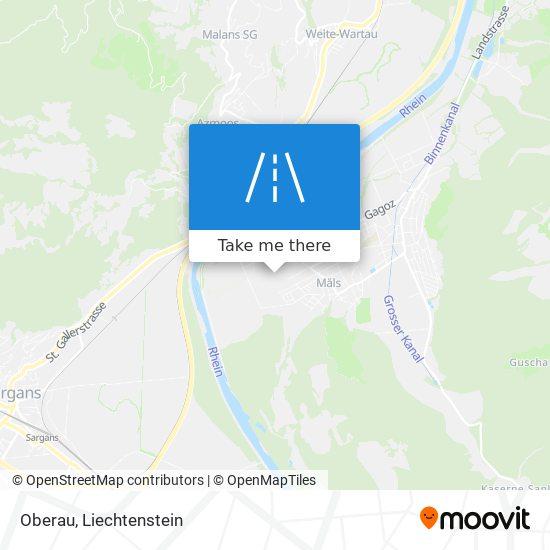 Oberau map