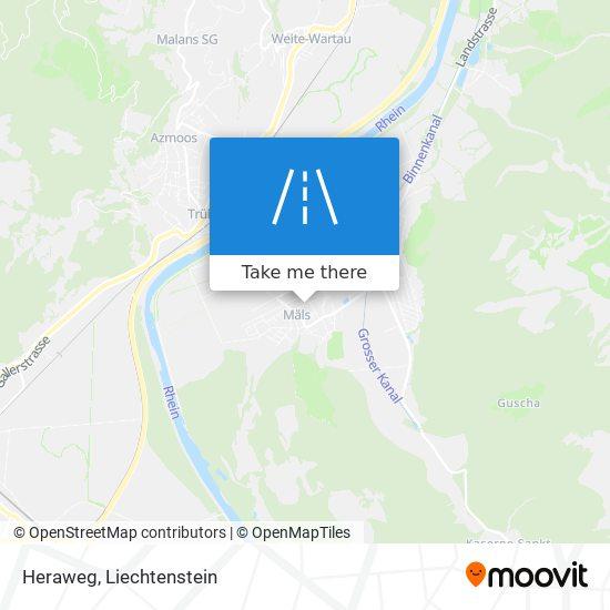 Heraweg map