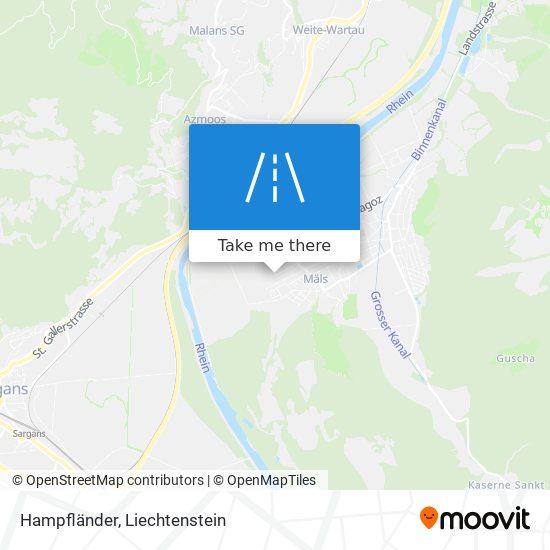 Hampfländer map
