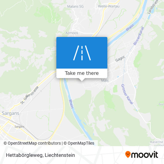 Hettabörgleweg map