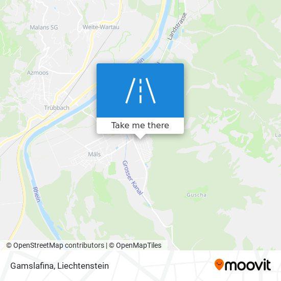 Gamslafina map