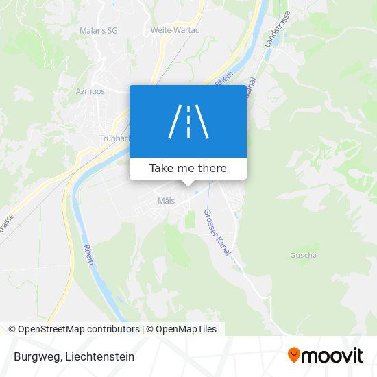 Burgweg map
