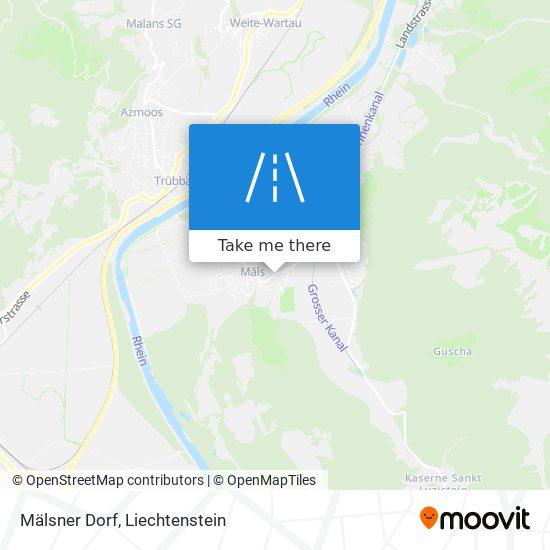 Mälsner Dorf map