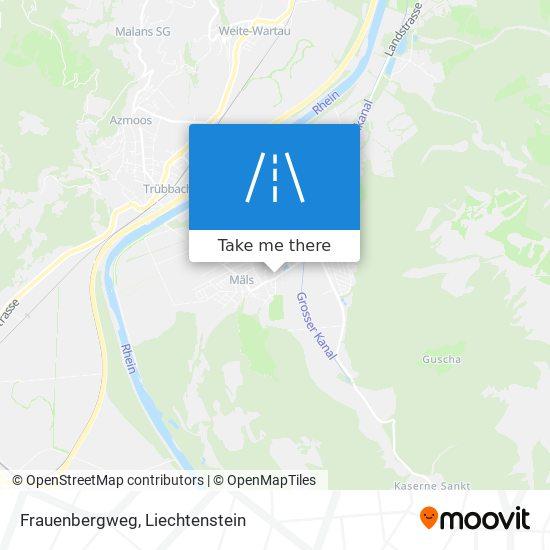 Frauenbergweg map