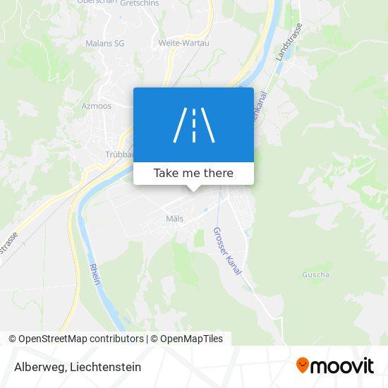 Alberweg map