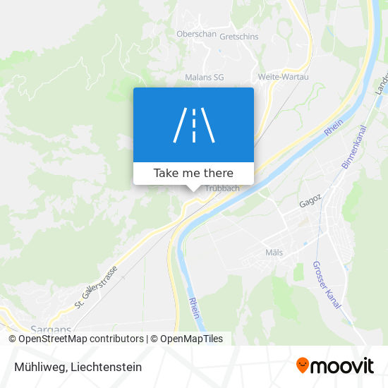 Mühliweg map