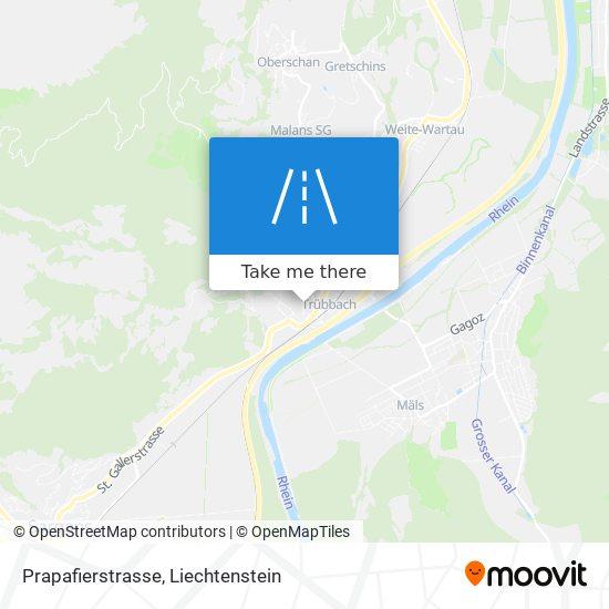 Prapafierstrasse map