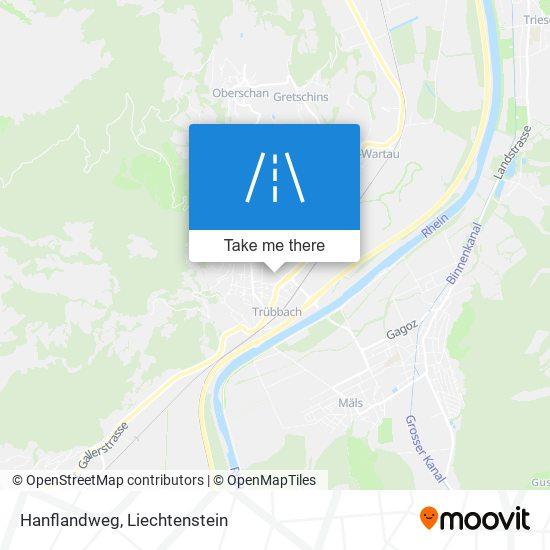 Hanflandweg map