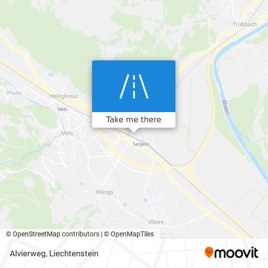 Alvierweg map